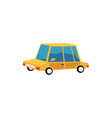 icon and symbol a small yellow toy auto and car vector image vector image