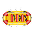 inflatable rafting boat vector image vector image