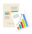 information charts business analytics banner vector image vector image