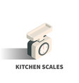 Kitchen scales icon symbol
