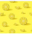 lemon fruit background pattern art vector image