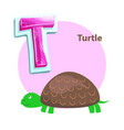 letter t for turtle cartoon alphabet for children vector image vector image