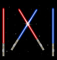 light swords weapon futuristic from star war shi vector image vector image
