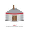 mongolian yurt icon vector image