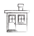 monochrome blurred silhouette of small house with vector image vector image