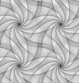 Monochrome seamless fractal veil design pattern vector image vector image