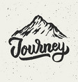mountain journey hand drawn vector image