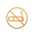 no smoking sign gradient line vector image