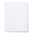 Notebook squared paper background isolated vector image vector image