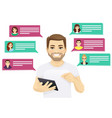 online chat vector image
