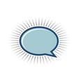 oval speech bubble logo template design vector image vector image