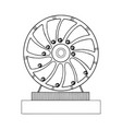 perpetual motion machine engraving vector image vector image