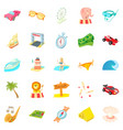 persistence icons set cartoon style vector image vector image