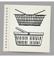 Plastic basket doodle style vector | Price: 1 Credit (USD $1)