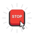 red stop button vector image