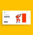 santa claus with loudspeaker and mockup banner vector image