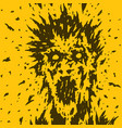 screaming monster from your nightmares vector image vector image