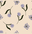 seamless floral pattern with hand-drawn allium
