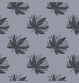 seamless pattern with marijuana leaves in grey vector image vector image