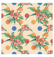 seamless summer hawaiian tropical pattern with vector image vector image