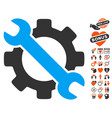service tools icon with lovely bonus vector image vector image