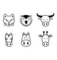 set of animal vector image vector image