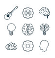 smart brain icons vector image