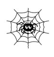 spider web and fun spider black graphic vector image vector image