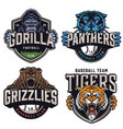 sports teams colorful vintage badges vector image