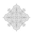 symmetric asian ornament of coloring book vector image vector image