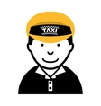 taxi driver worker icon vector image