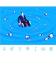 teamwork Businessman and vector image vector image