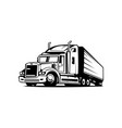 tow truck trailer logo transportation vector image vector image