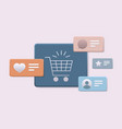 trolley cart icon online shopping concept vector image