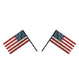 usa flags to celebrate holiday patriotic vector image