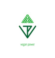 Vegan Power - lettering for labels logos badges vector image