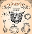 Vintage Halloween Set vector image vector image