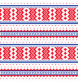 winter cross-stitch pattern sami folk art vector image vector image