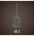 with the multicolored guitar vector image vector image