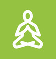 yoga meditation icon vector image