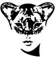 lioness girl catwoman vector image
