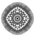 Mandala for coloring book vector image