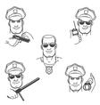 Police Officer Emblem Set vector image