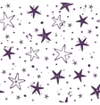 Star seamless background vector image