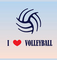 volleyball love background vector image