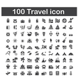 100 travel icon vector image