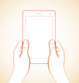 2 Hand Holding Tablet 3 vector image vector image