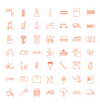 49 service icons vector image vector image