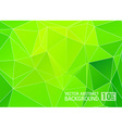 Abstract green triangle background eps10 vector image