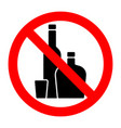 alcohol strong drinks stop forbidden prohibition vector image